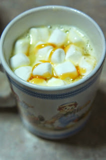 White Hot Chocolate with Caramel and Toffee: Savory Sweet and Satisfying