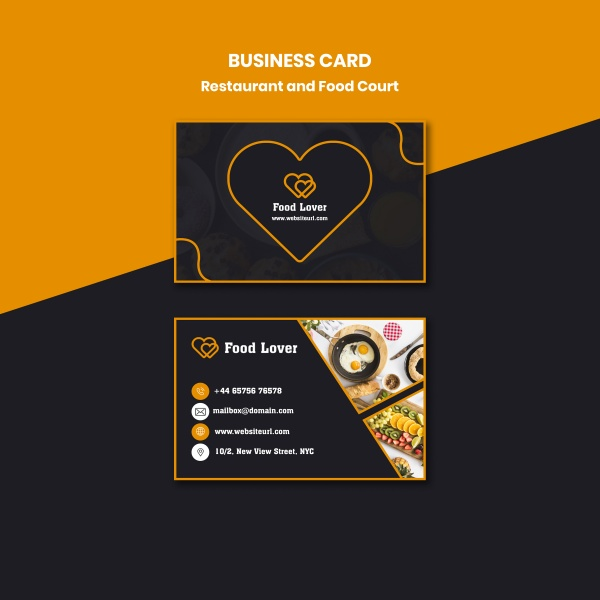 Featured Catering Business Card Template free psd template