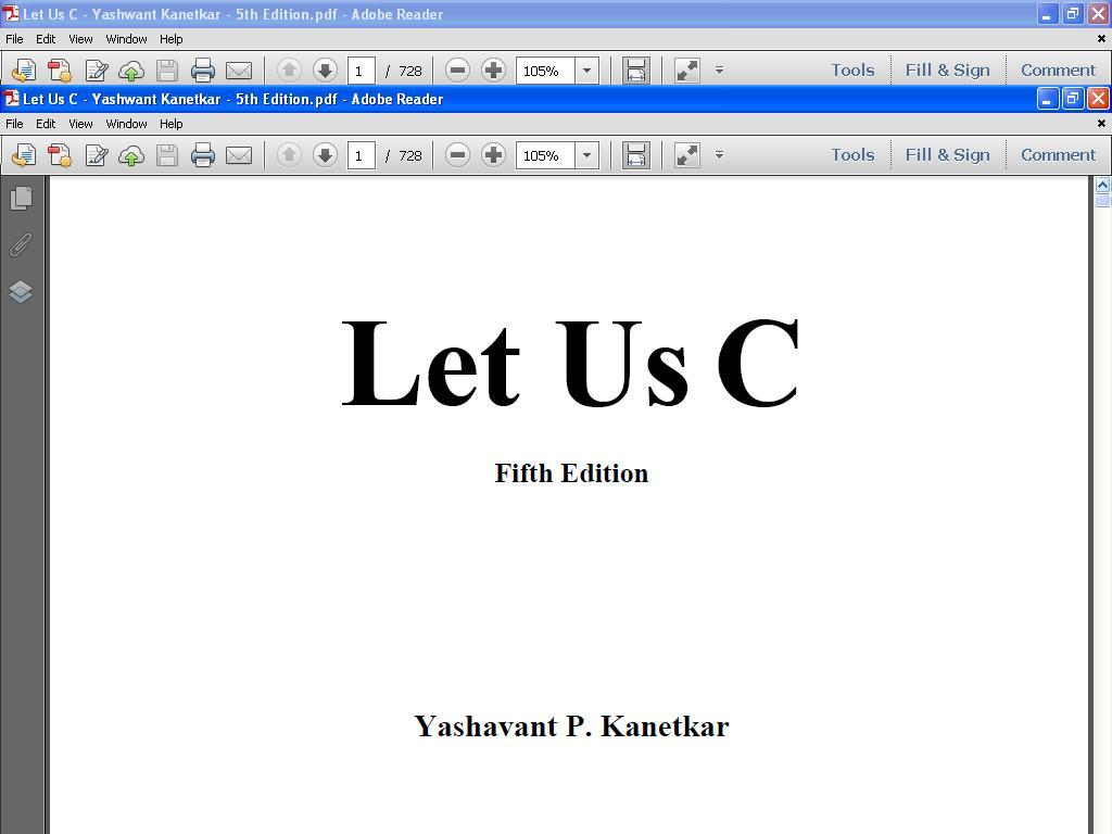 Random blogs: let us c book pdf by yashwant kanetkar.