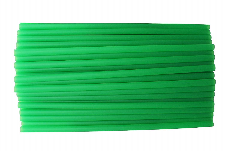 Green Plastic Drinking Straws - Source: Amazon - https://amzn.to/2uanE2F