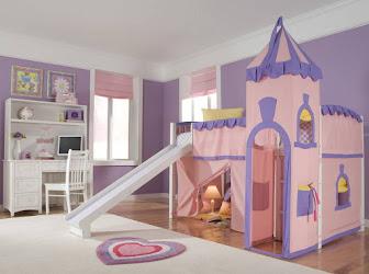 Castillo rosado para habitación de niñas