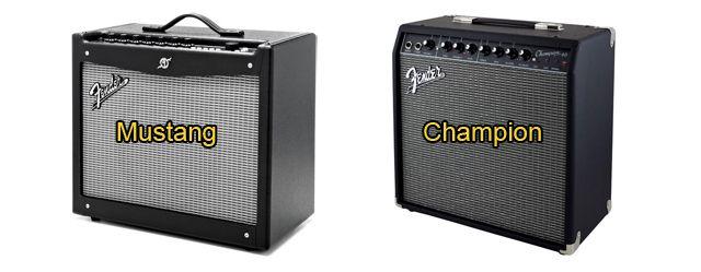 Amplificadores a Transistores Fender Mustang II V2 y Fender Champion 40