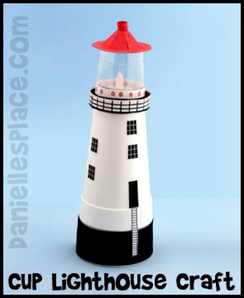 Diy lighthouses how to make a lighthouse from cardboard foam styrofoam cup lighthouse pronofoot35fo Images