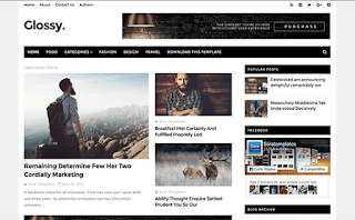 Glossy Upgraded Blogger Template