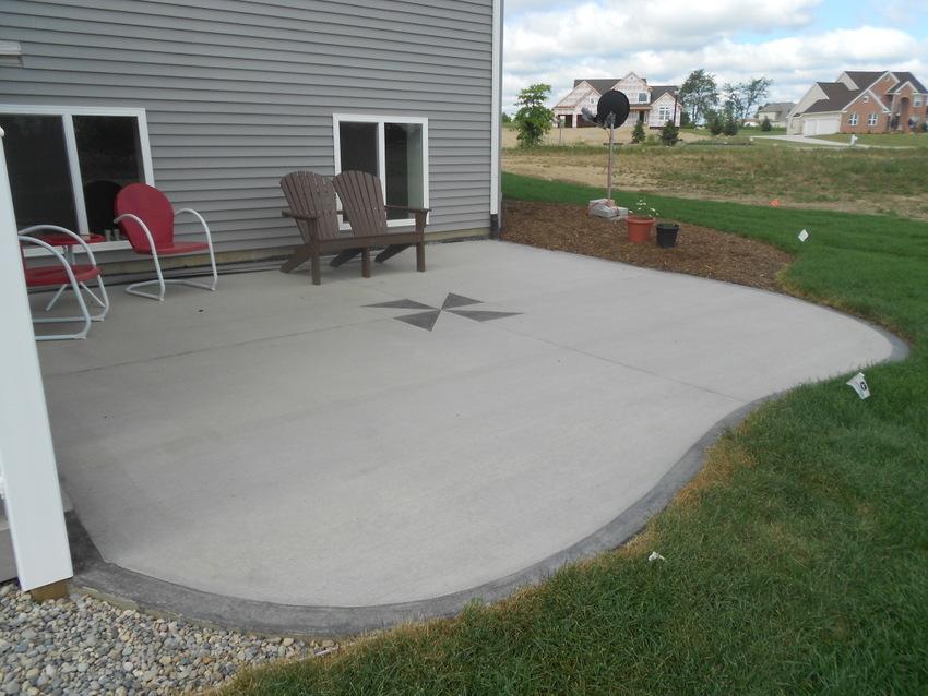 Outside House Decorations: Outdoor Concrete Patio Designs ... on Concrete Slab Patio Ideas id=22665