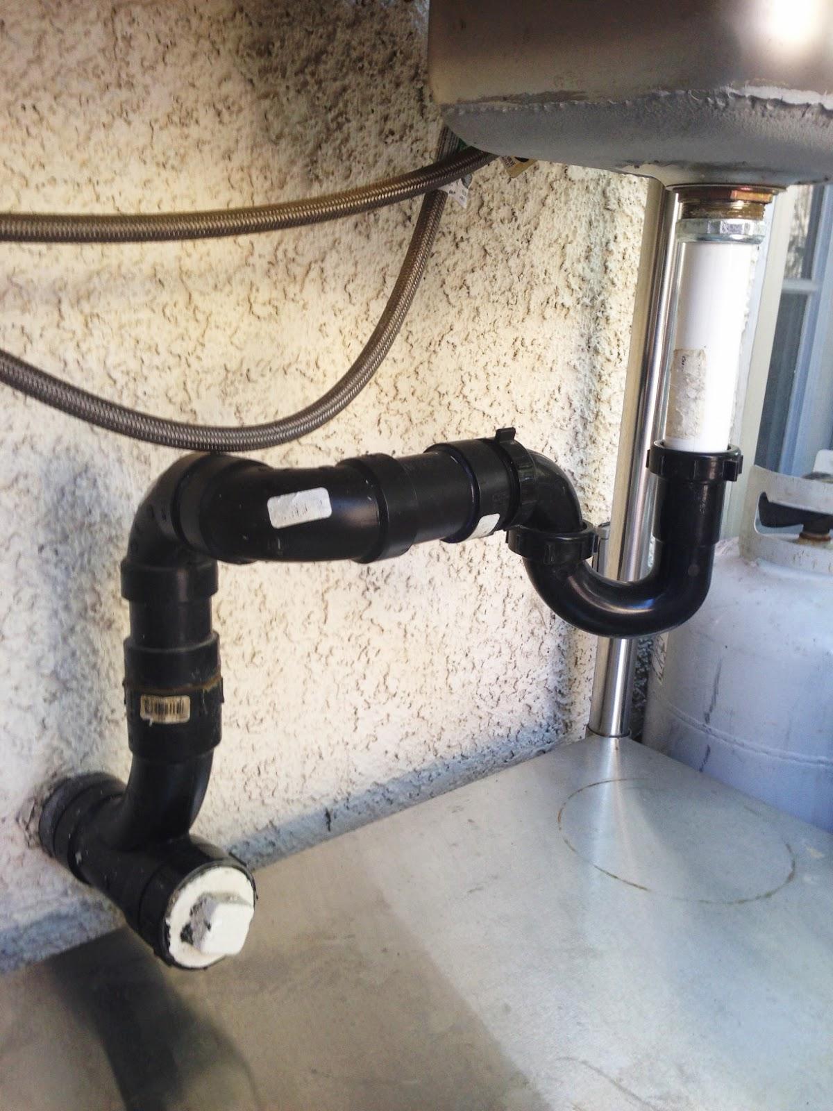 Outdoor sink hose hookup
