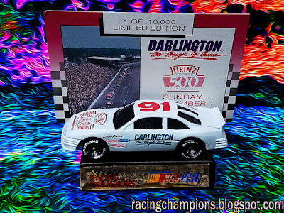 1991 Heinz Southern 500 Pontiac event car Racing Champions 1/64 NASCAR diecast blog track Darlington throwback 2017 2018