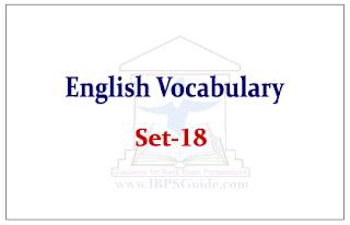 SBI PO Exam- English Vocabulary