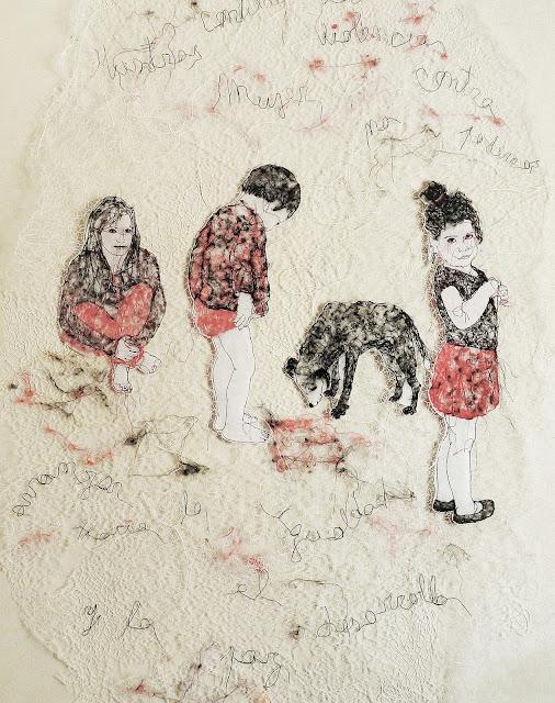 art textile contemporain,  installation textile