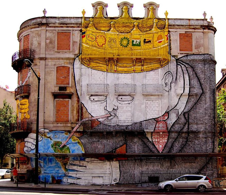 These 30+ Street Art Images Testify Uncomfortable Truths - Eating The Earth
