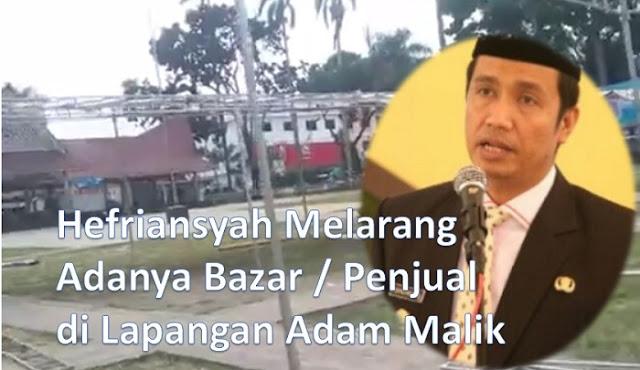 Plh Walikota Siantar Hefriansyah Melarang, Tapi Tiang Bazar di Lap Adam Malik Tetap Dipasang, Ada Apa Sebenarnya?