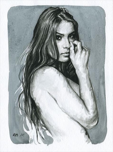 René Bui - Etude de nu à l'aquarelle #160181