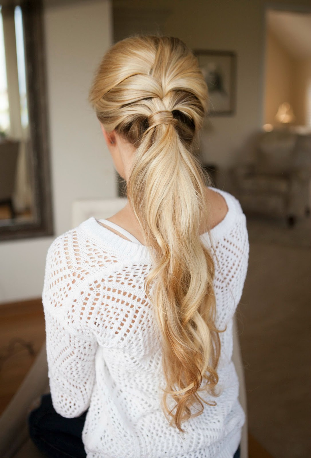 Braided low ponytail for school