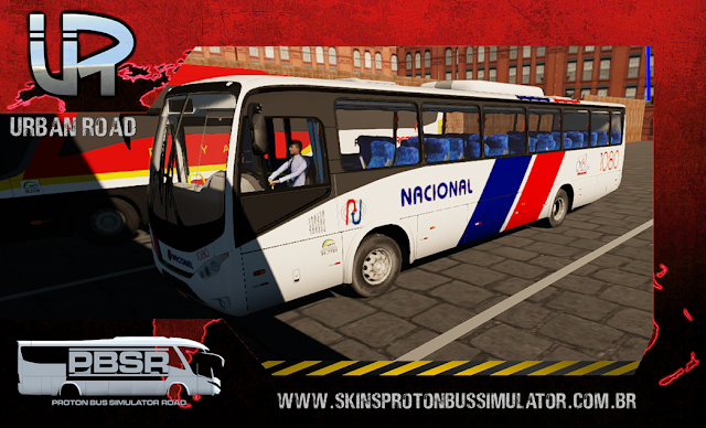 Skin Proton Bus Simulator Road - Ideale 770 OF-1721 BT5 Nacional Turismo