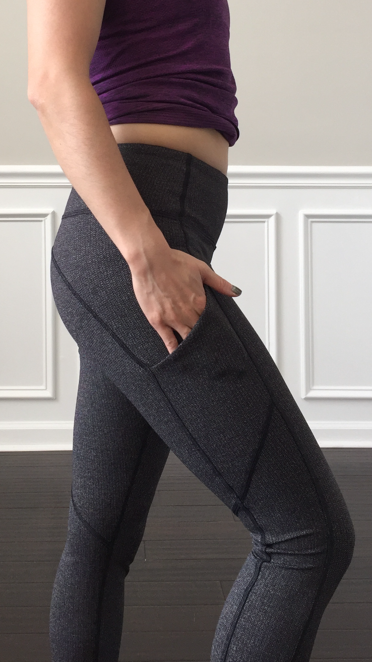 2fd9dcc084161 Petite Impact: Fit Review! Speed Tight V in Variegated Knit