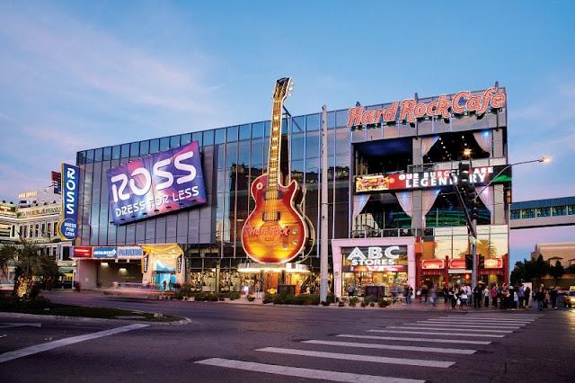 Compras nas lojas de departamento em Las Vegas