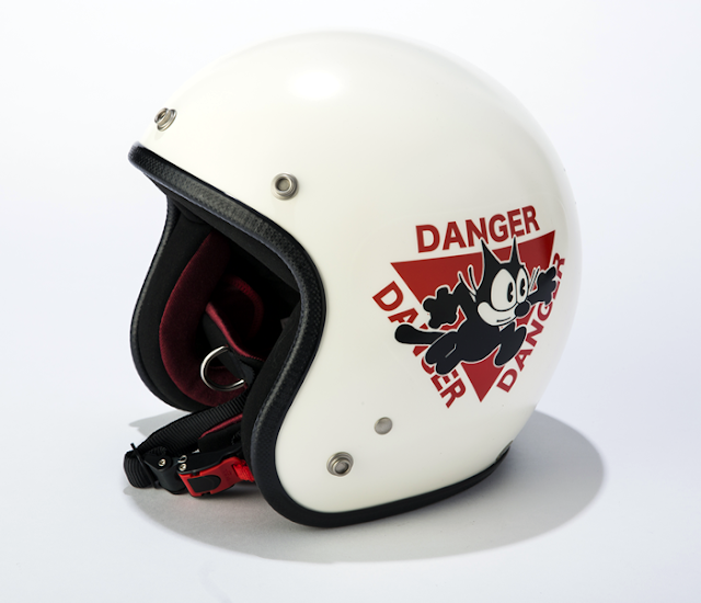 Felix the Cat jet style motorcycle helmet