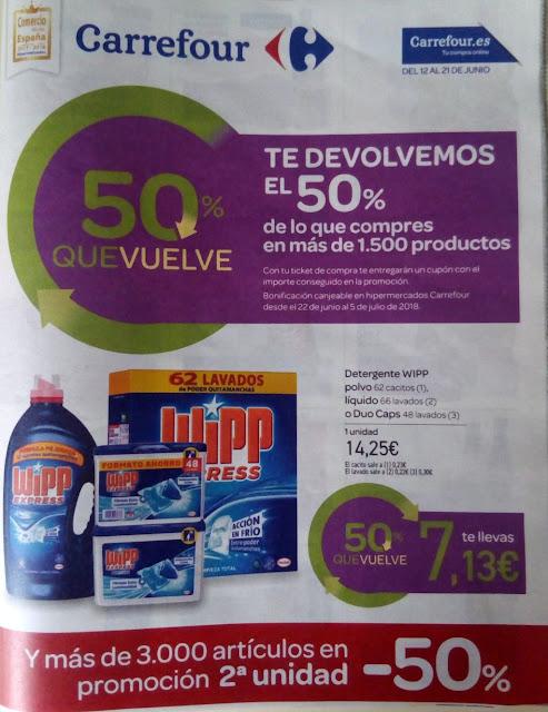 Carrefour y el 50% que vuelve