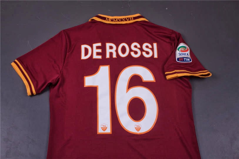 size 40 4cf22 46beb soccerfaith: AS Roma home jersey 2013 2014 #16 DE ROSSI with ...
