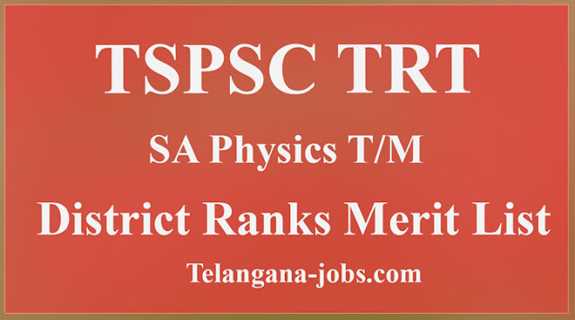 TRT physics district ranks