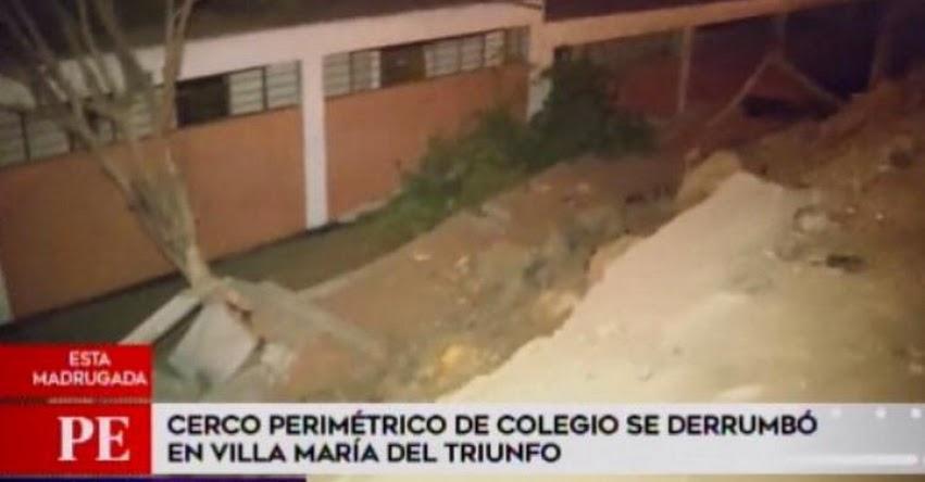 Denuncian negligencia por caída de pared en colegio de Villa María del Triunfo - UGEL 01