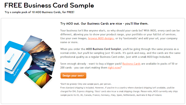 10 free business card samples from moo sassy dealz
