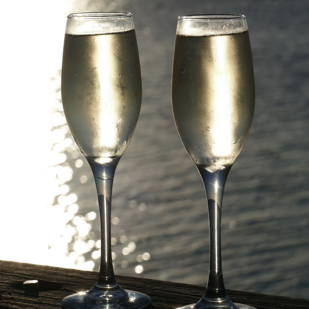 Champagner Prosecco Drinks Meer Flugangst Heron Island