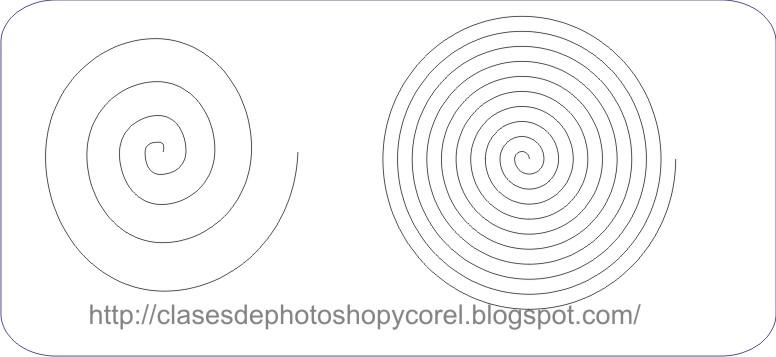 tutoriales de photoshop y coreldraw: LA HERRAMIENTA ESPIRAL