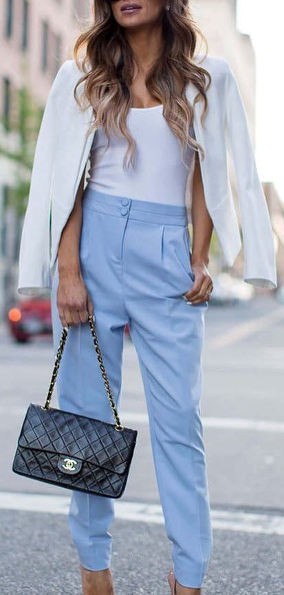 cute business style outfit idea