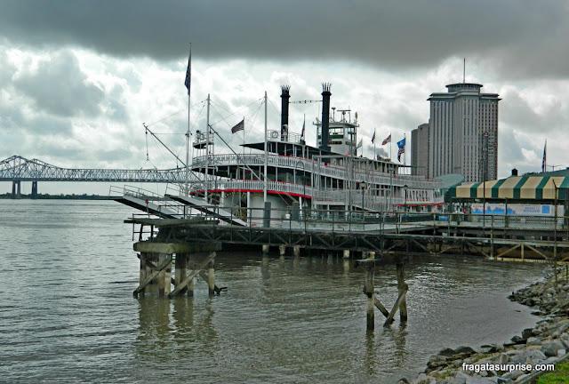 Nova Orleans, barco a vapor Natchez