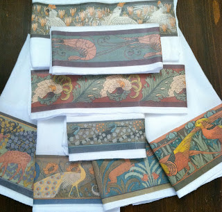 doverpictura blog: Tutorial Tuesday: Art Nouveau Flour Sack Towels