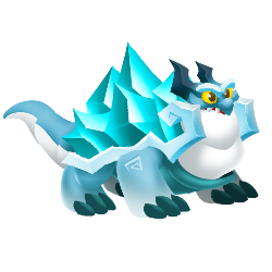 Appearance of Iceberg Dragon when teenager