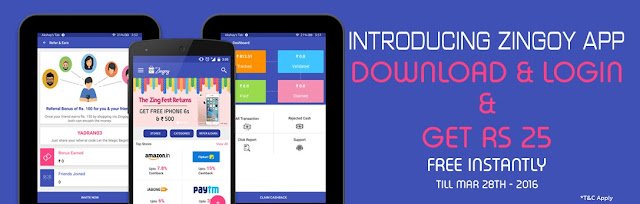 Zingoy Loot Offer : Download Zingoy App And Get Rs 25 Free