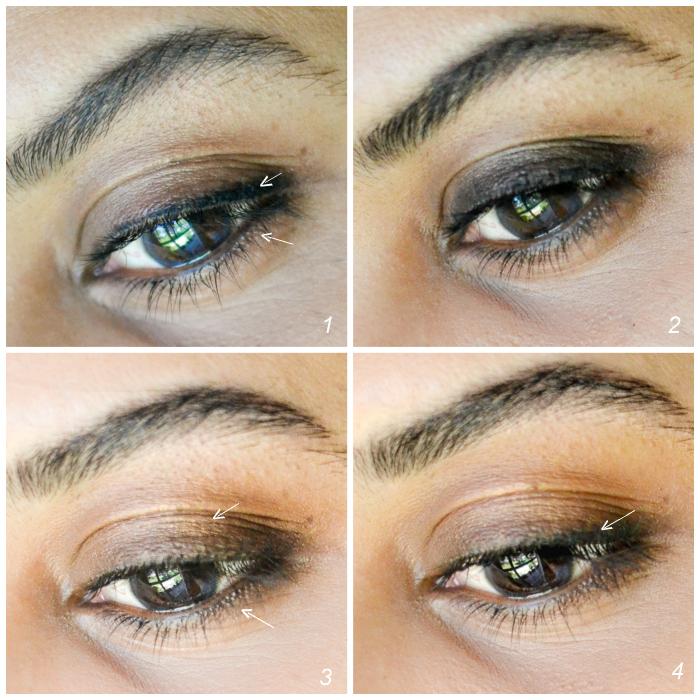 Easy Glam - Soft Smokey Eyes with Red Lips - Black Eyeliner Warm Brown Eyeshadow - Steps