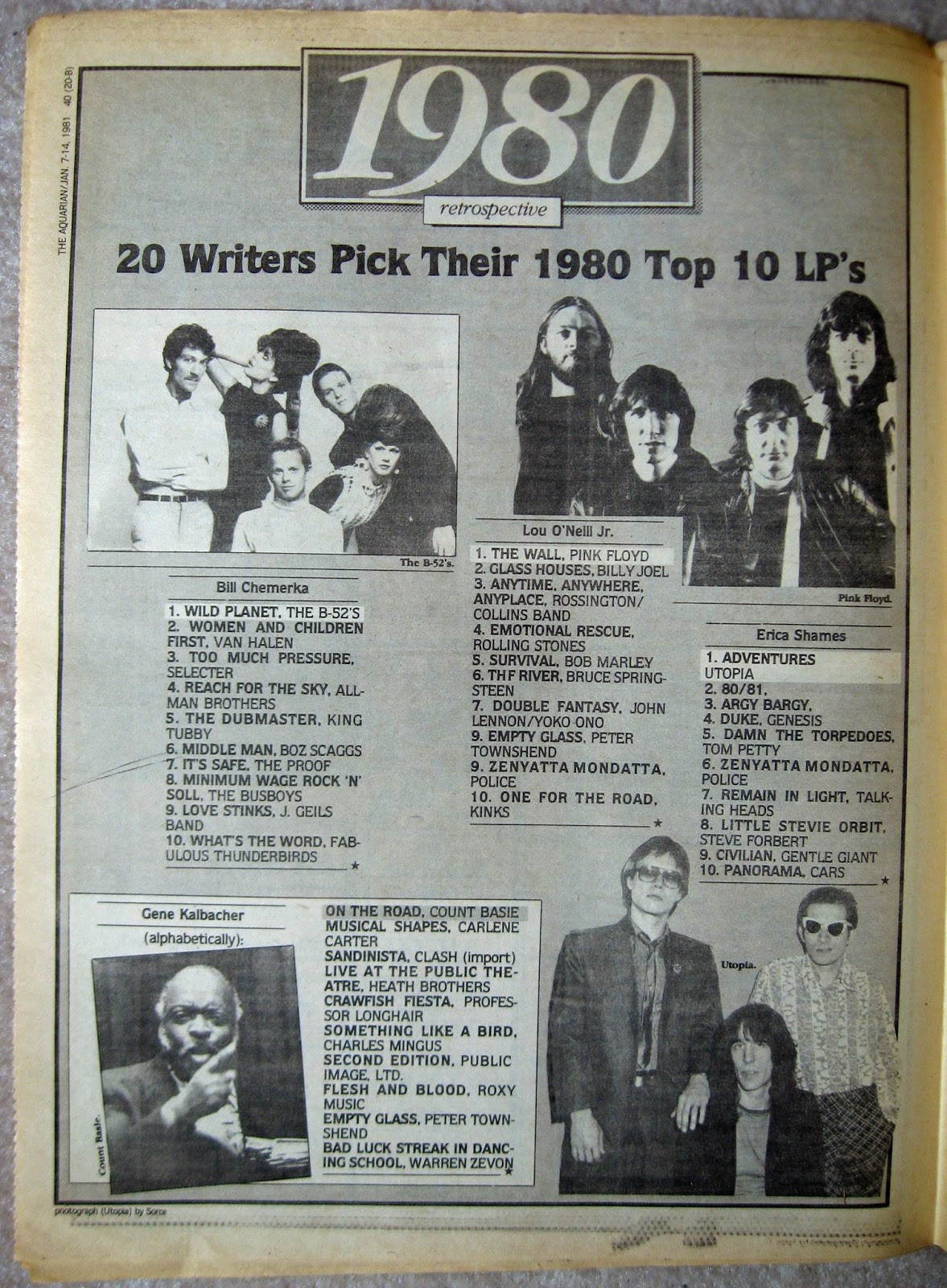 1980 top albums of the year... part 1 Aquarian Night Owl January 1981