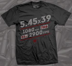 5.45x39mm firearm shirt