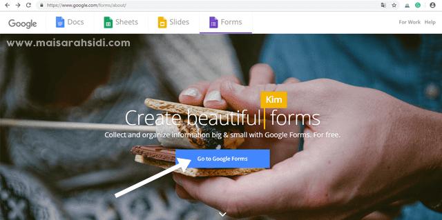Letak Google Form dalam Blog