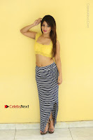 Cute Telugu Actress Shunaya Solanki High Definition Spicy Pos in Yellow Top and Skirt  0484.JPG