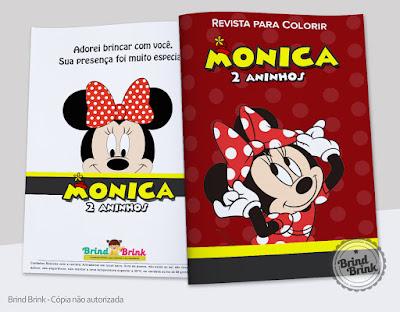 Revista para colorir personalizada para festas infantis