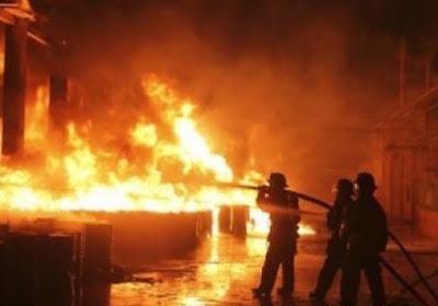 عاجل الان .. تفاصيل واسباب حريق في مصنع الكتان بالغربية ~ والتهام 300 طن من الكتان