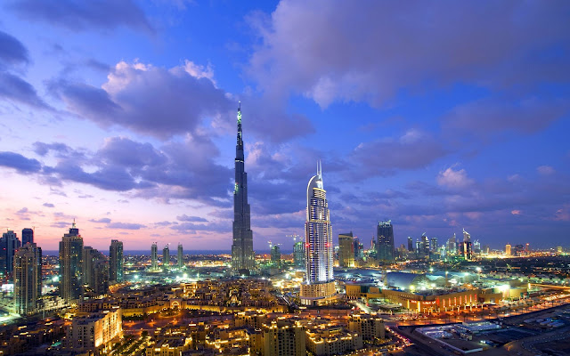 Dubai Amazing Burj Khalifa At Sunset United Arab Emirates HD Desktop Wallpaper