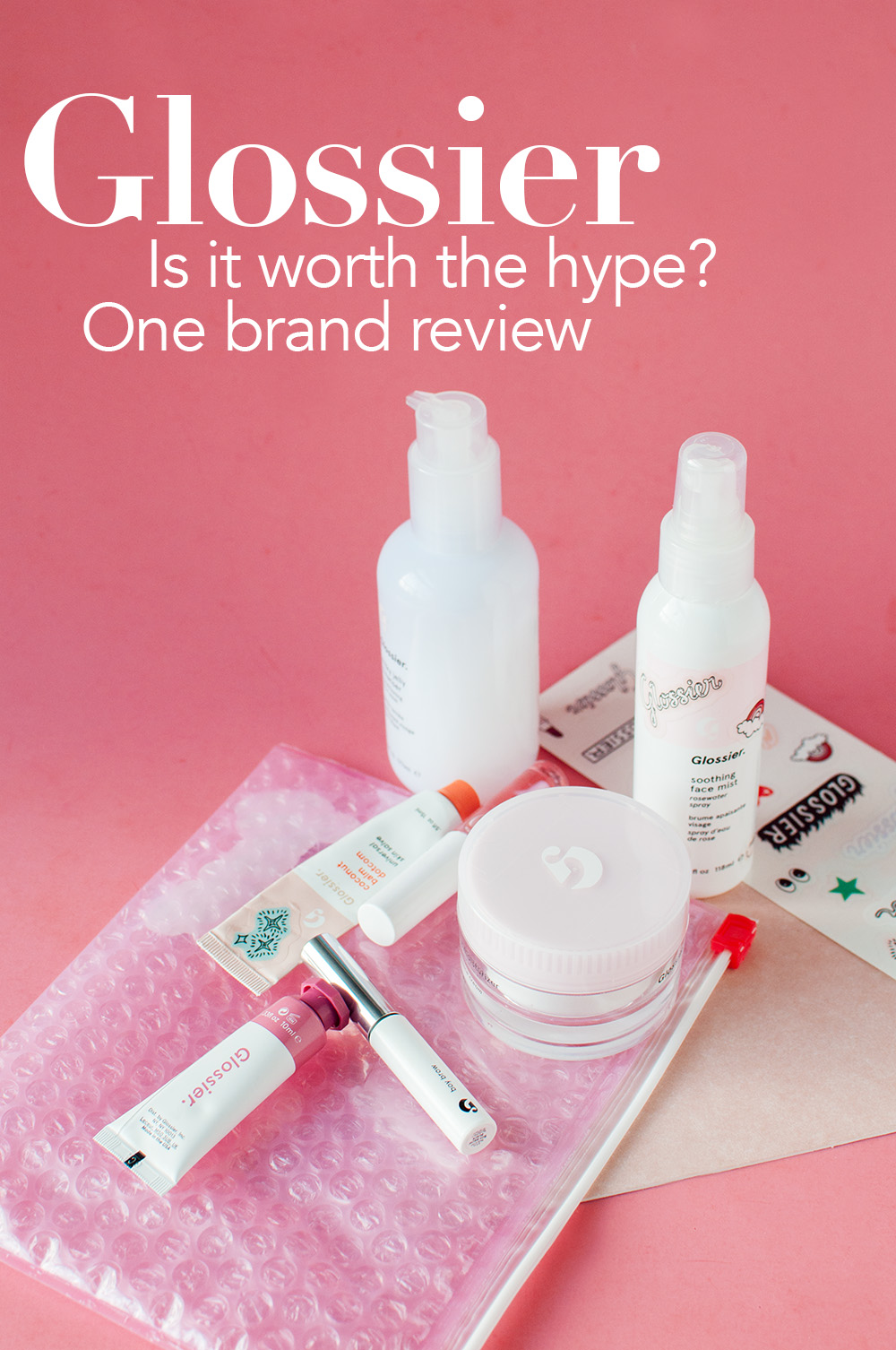 glossier review, glossier worth the hype, glossier one brand review, glossier review