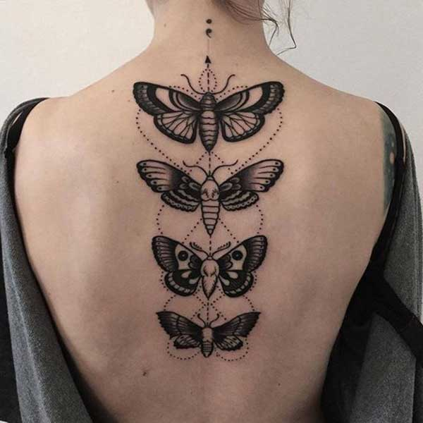 sırt kelebek dövme back butterfly tattoo