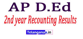 AP D.Ed 2nd year Recounting Results 2017