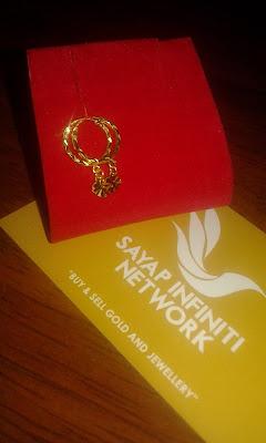 Barang Kemas Sayap Infiniti Network, subang, gantung, subang budak, emas, emas 916, 916