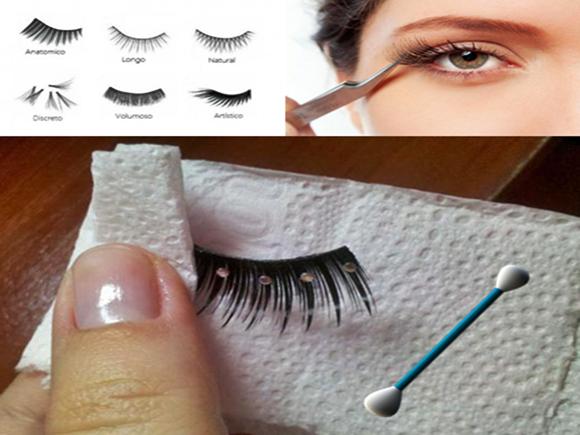 limpeza e tipos de cílios postiços