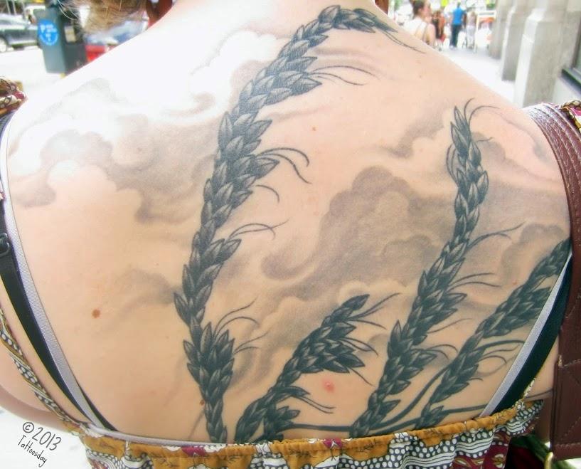 Tattoosday a tattoo blog anna 39 s sea oats remind her of for North carolina tattoo laws