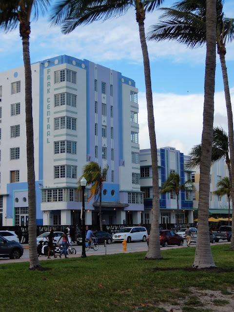 Edificios de la calle Ocean Drive en South Beach Miami