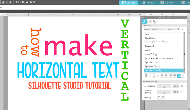 vertical text, horizontal, silhouette studio, silhouette america blog, silhouette 101