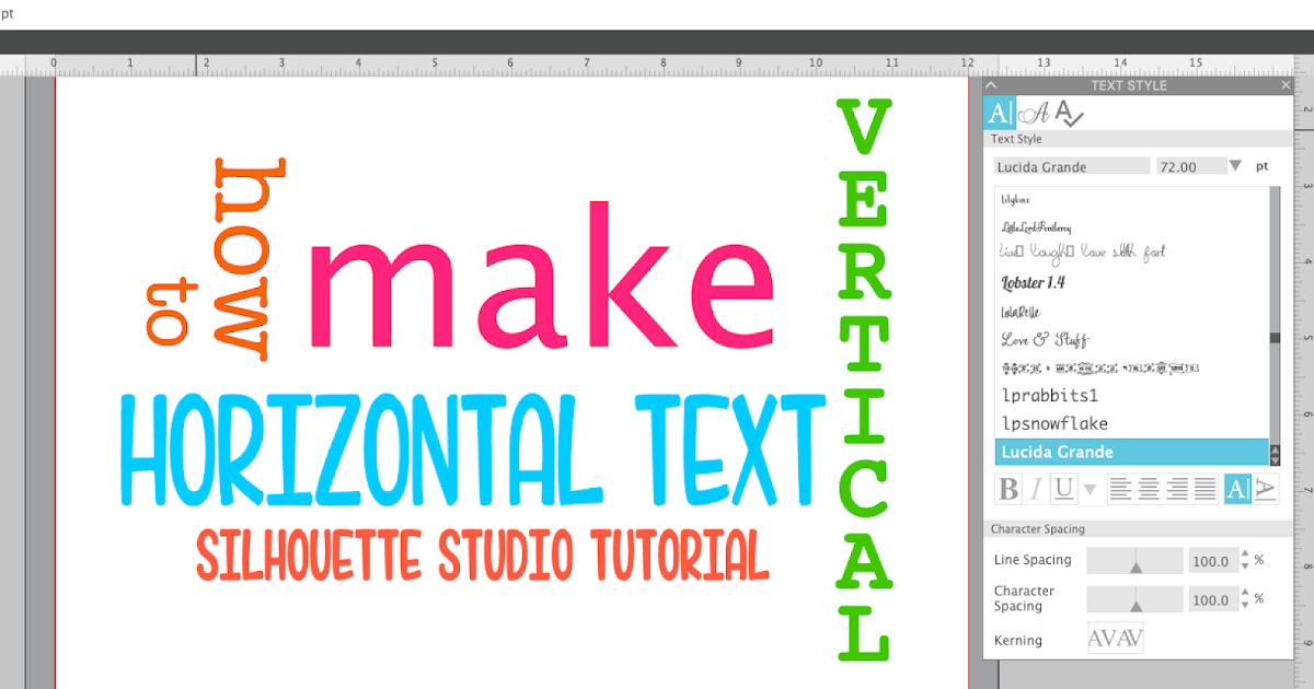 Typing Vertical Text In Silhouette Studio The So Easy It S Stupid